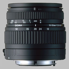 image of the Sigma 18-50mm f/3.5-5.6 DC lens