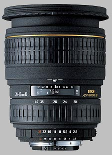 image of the Sigma 20-40mm f/2.8 EX DG Aspherical lens