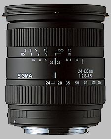 image of the Sigma 24-135mm f/2.8-4.5 Aspherical IF lens