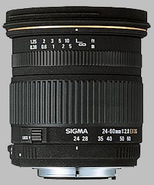 image of the Sigma 24-60mm f/2.8 EX DG lens