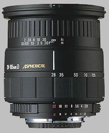 image of the Sigma 28-105mm f/2.8-4 Aspherical IF lens