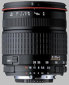 image of the Sigma 28-200mm f/3.5-5.6 Aspherical IF Macro lens