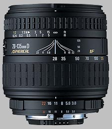 image of the Sigma 28-135mm f/3.8-5.6 Aspherical IF Macro lens