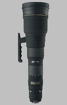 image of the Sigma 300-800mm f/5.6 EX DG HSM lens