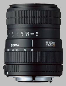 image of the Sigma 55-200mm f/4.5-5.6 DC lens