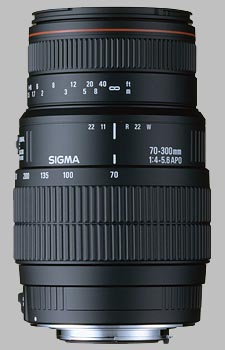 image of the Sigma 70-300mm f/4-5.6 DG Macro APO lens