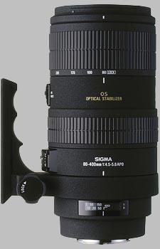 image of the Sigma 80-400mm f/4.5-5.6 EX OS APO lens