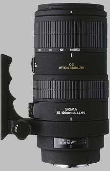 image of the Sigma 80-400mm f/4.5-5.6 EX OS APO lens