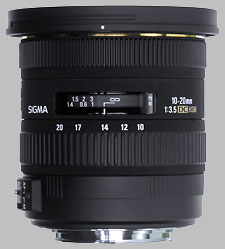 image of the Sigma 10-20mm f/3.5 EX DC HSM lens