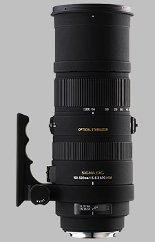 image of the Sigma 150-500mm f/5-6.3 DG OS HSM APO lens