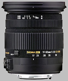 image of the Sigma 17-50mm f/2.8 EX DC OS HSM lens