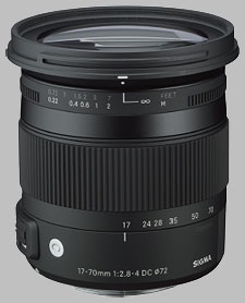 image of the Sigma 17-70mm f/2.8-4 DC Macro OS HSM Contemporary lens