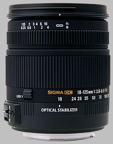 image of the Sigma 18-125mm f/3.8-5.6 DC OS HSM lens