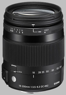 image of the Sigma 18-200mm f/3.5-6.3 DC Macro OS HSM Contemporary lens