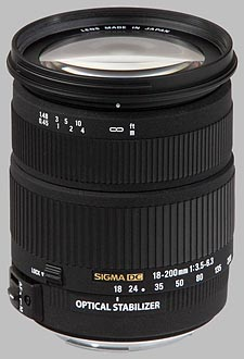 image of the Sigma 18-200mm f/3.5-6.3 DC OS HSM lens