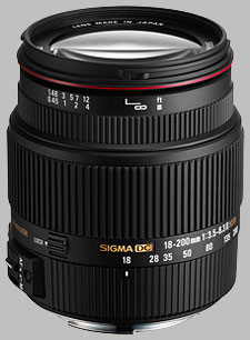 image of the Sigma 18-200mm f/3.5-6.3 II DC OS HSM lens