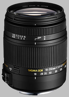 image of the Sigma 18-250mm f/3.5-6.3 DC Macro OS HSM lens