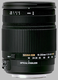 image of the Sigma 18-250mm f/3.5-6.3 DC OS HSM lens