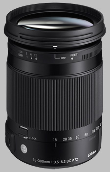 image of the Sigma 18-300mm f/3.5-6.3 DC Macro OS HSM Contemporary lens