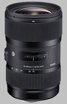 image of the Sigma 18-35mm f/1.8 DC HSM Art lens