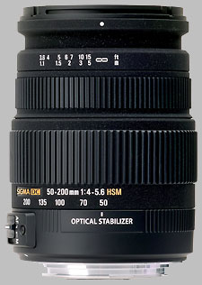 image of the Sigma 50-200mm f/4-5.6 DC OS HSM lens