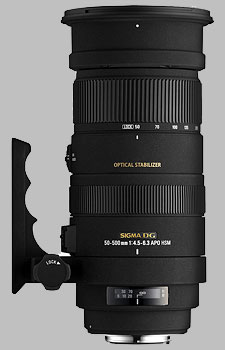 image of the Sigma 50-500mm f/4.5-6.3 DG OS HSM APO lens