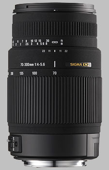 image of the Sigma 70-300mm f/4-5.6 DG OS lens
