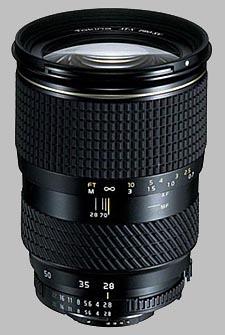 image of Tokina 28-70mm f/2.8 AT-X 287 AF PRO SV