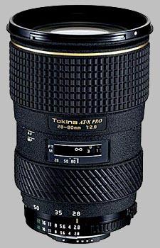 image of the Tokina 28-80mm f/2.8 AT-X 280 AF PRO lens