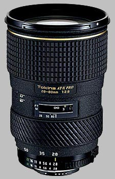 image of the Tokina 28-80mm f/2.8 AT-X 280 AF PRO lens