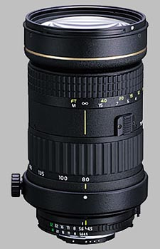 image of the Tokina 80-400mm f/4.5-5.6 AT-X 840 AF D lens
