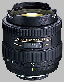 image of the Tokina 10-17mm f/3.5-4.5 AT-X 107 AF DX Fisheye lens