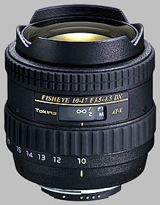 image of the Tokina 10-17mm f/3.5-4.5 AT-X 107 AF DX Fisheye lens
