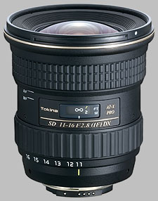 image of the Tokina 11-16mm f/2.8 AT-X 116 PRO DX SD lens