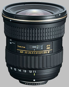 image of the Tokina 11-16mm f/2.8 AT-X 116 PRO DX II SD lens