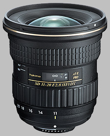 image of the Tokina 11-20mm f/2.8 AT-X PRO DX SD lens