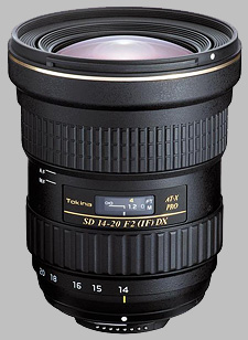 image of the Tokina 14-20mm f/2 AT-X 142 AF PRO DX SD lens