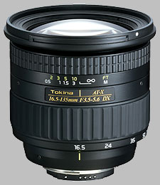 image of the Tokina 16.5-135mm f/3.5-5.6 AT-X DX lens