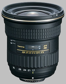 image of the Tokina 17-35mm f/4 AT-X PRO FX SD lens