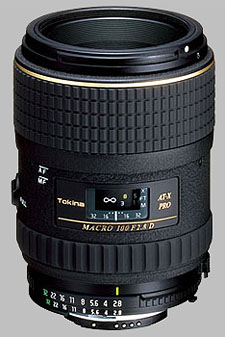 image of the Tokina 100mm f/2.8 AT-X 100 AF PRO D Macro lens