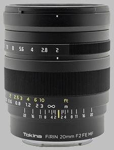 image of the Tokina 20mm f/2 FE MF FiRIN lens