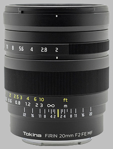 image of the Tokina 20mm f/2 FE MF FiRIN lens