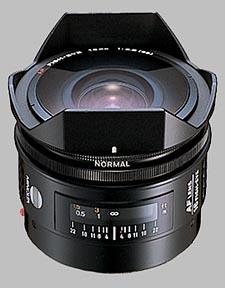 image of the Konica Minolta 16mm f/2.8 Fisheye AF lens