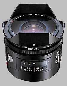image of the Konica Minolta 16mm f/2.8 Fisheye AF lens