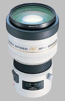 image of the Konica Minolta 200mm f/2.8 APO G AF lens