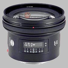 image of the Konica Minolta 20mm f/2.8 AF lens