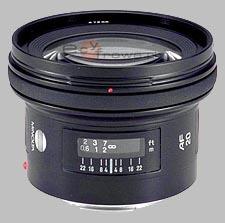 image of the Konica Minolta 20mm f/2.8 AF lens