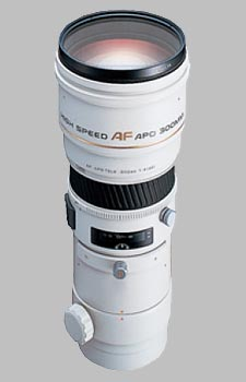 image of the Konica Minolta 300mm f/4 APO G AF lens