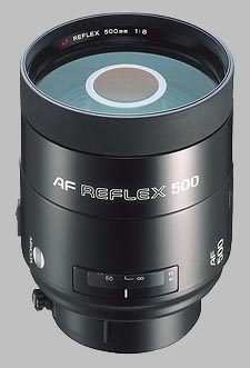 image of the Konica Minolta 500mm f/8 AF Reflex lens