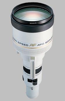 image of the Konica Minolta 600mm f/4 APO G AF lens